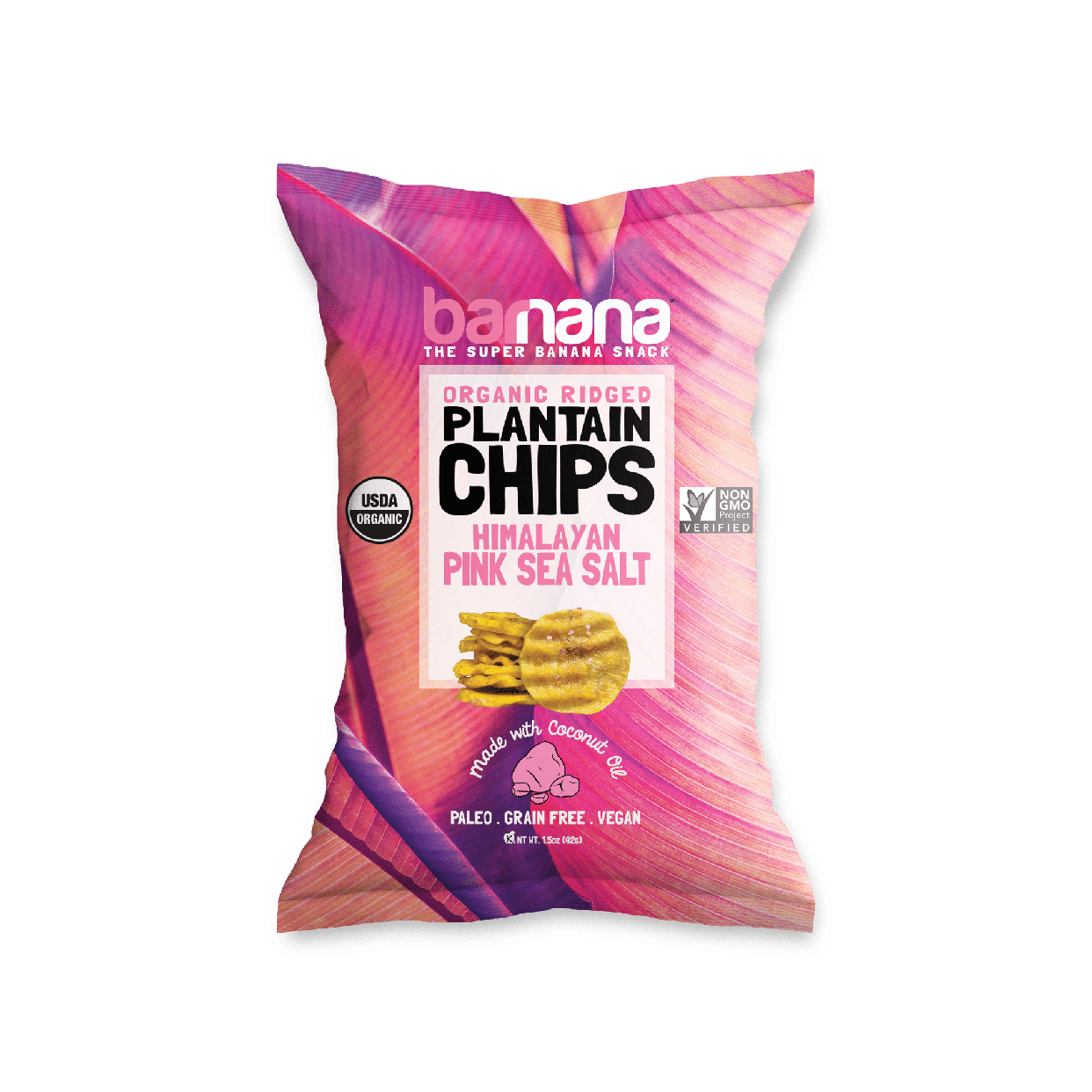 barnana plantain chips - pink sea salt