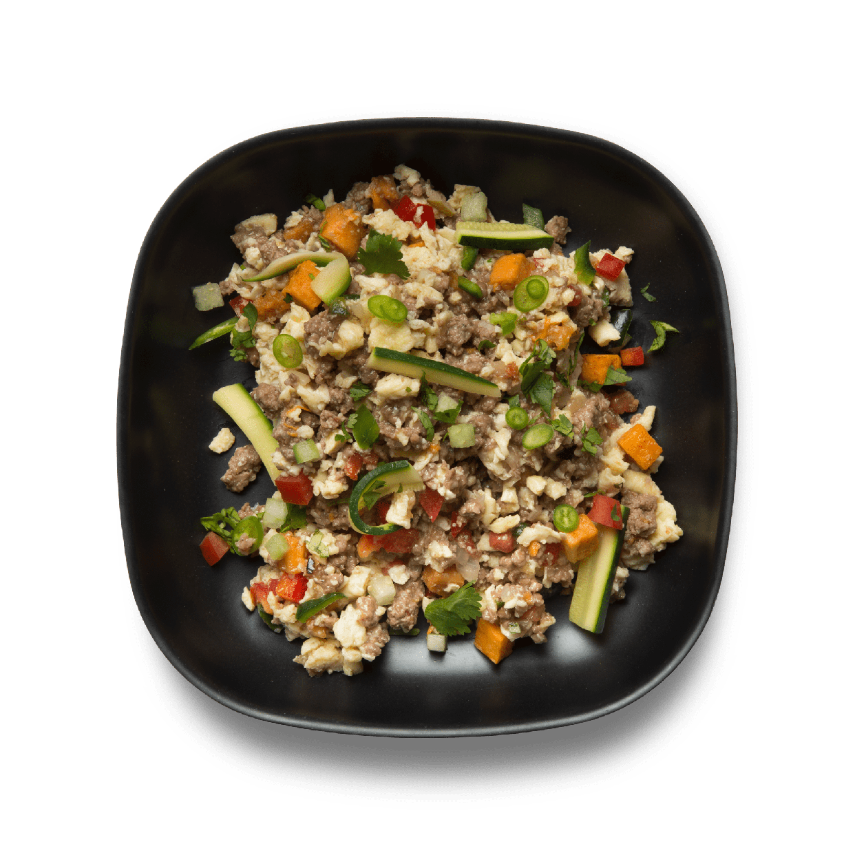 beef sweet potato scramble
