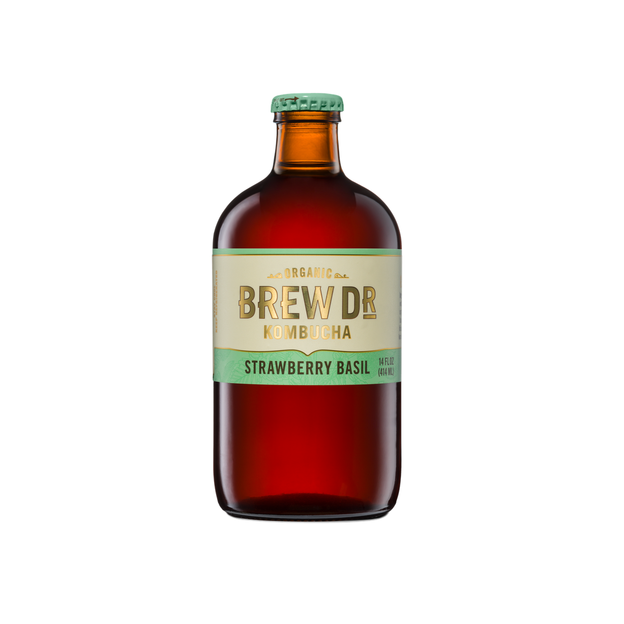 brew dr. kombucha - strawberry basil