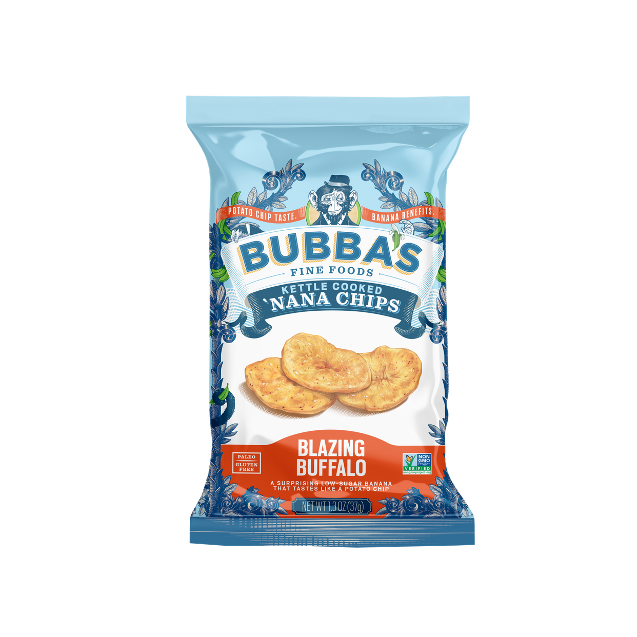 bubba's blazing buffalo 'nana chips