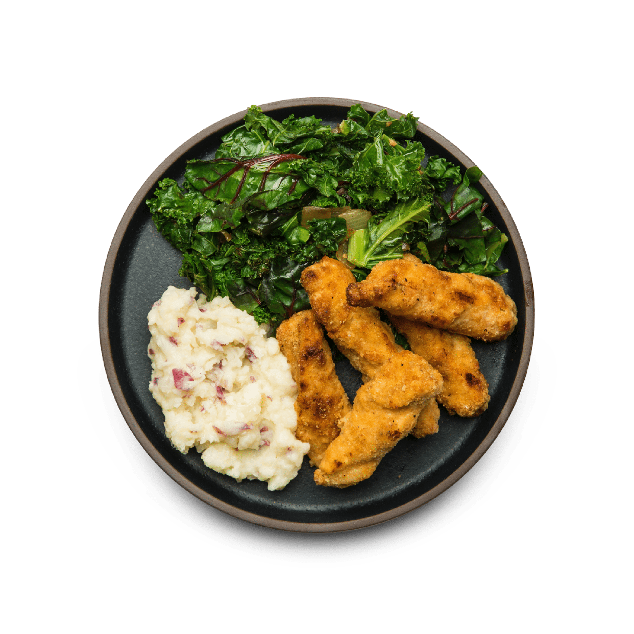 chicken tenders with turnip mash