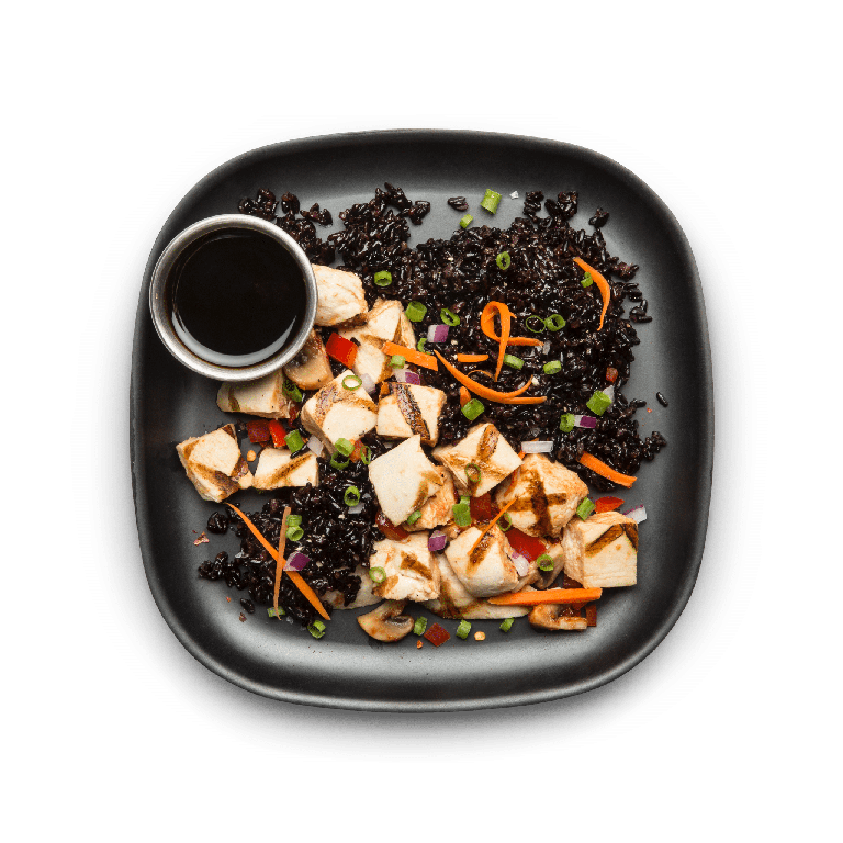 chicken with teriyaki rice