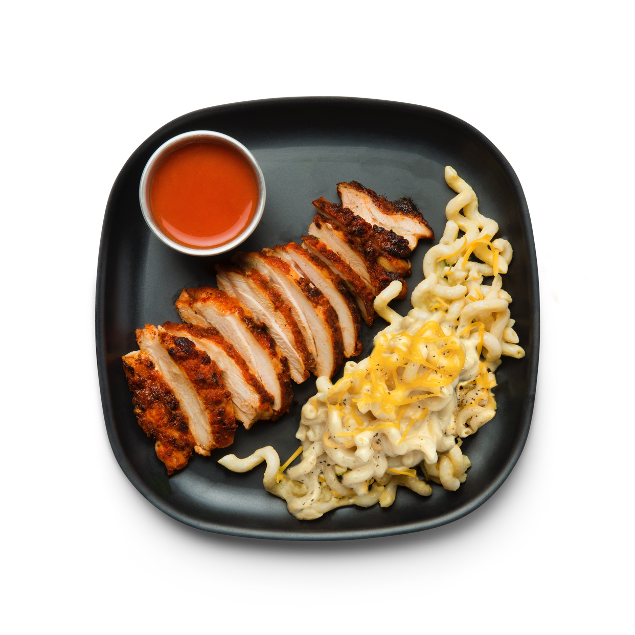 hot chicken with mac & cheese