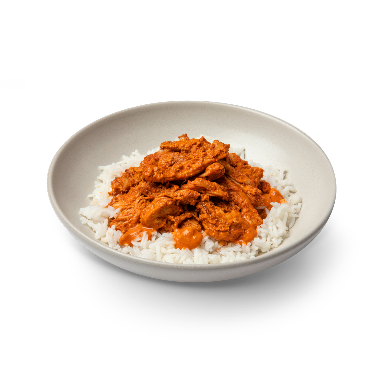 large - butter chicken on basmati rice