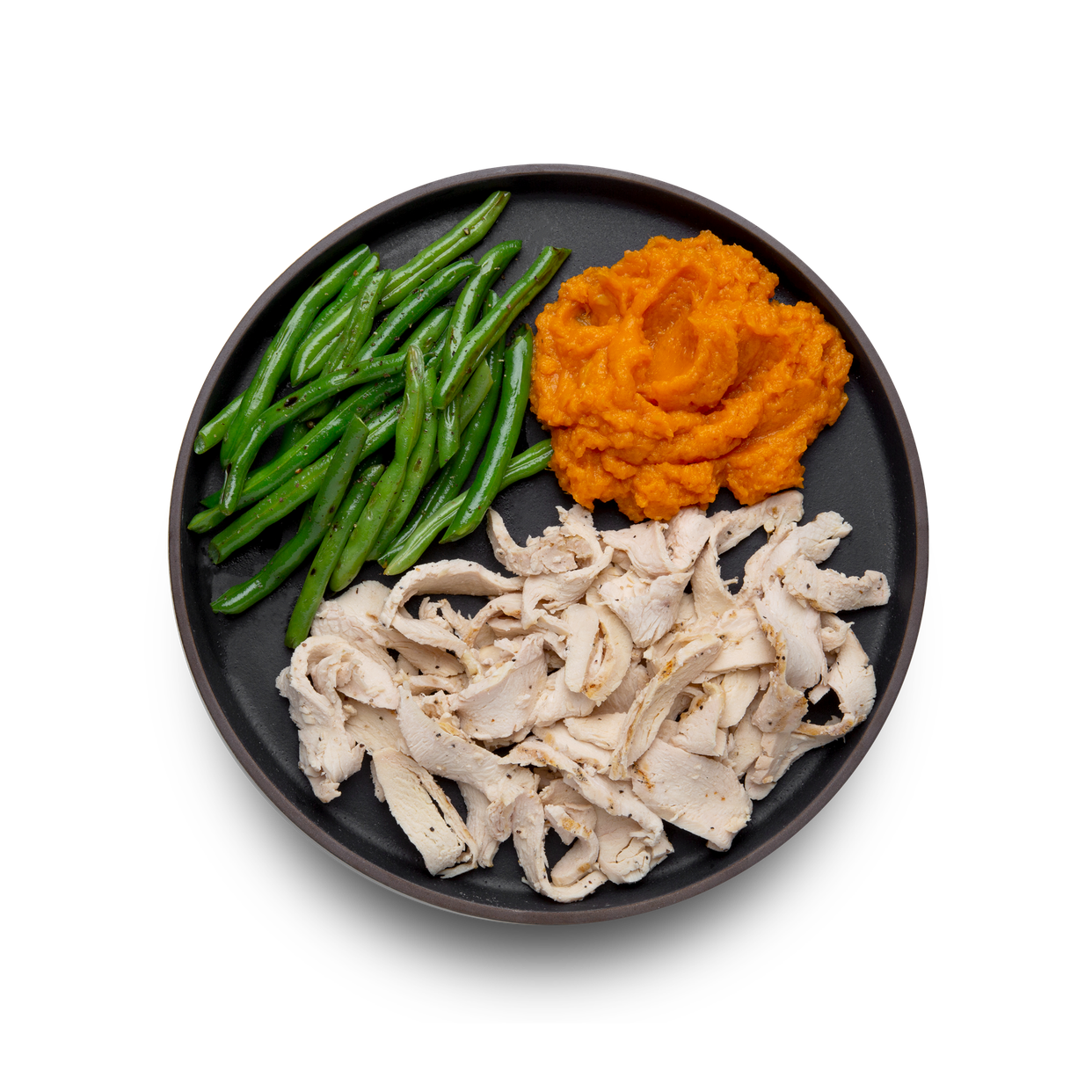 large - chicken with sweet potatoes & green beans