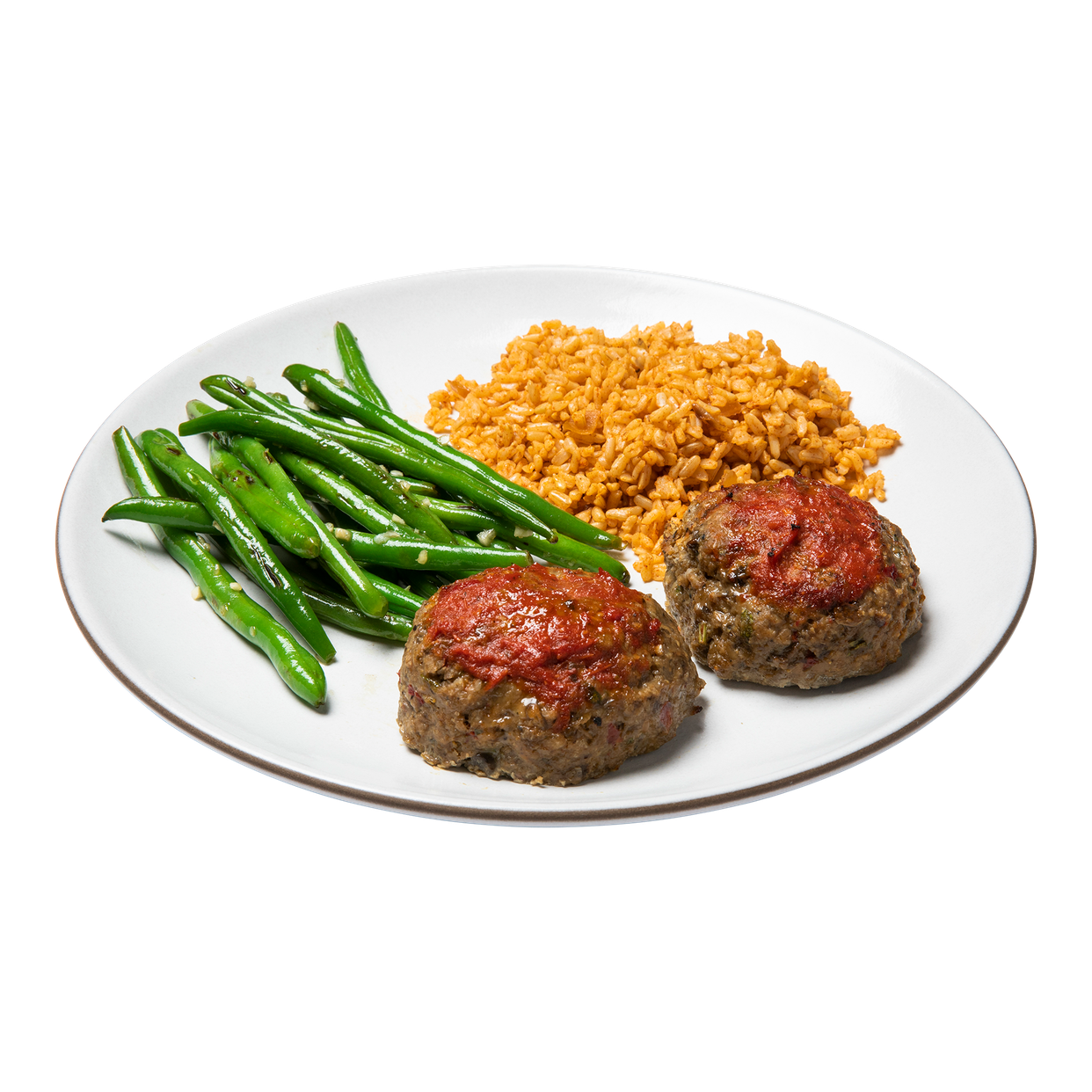 large - turkey meatloaf with rice & green beans