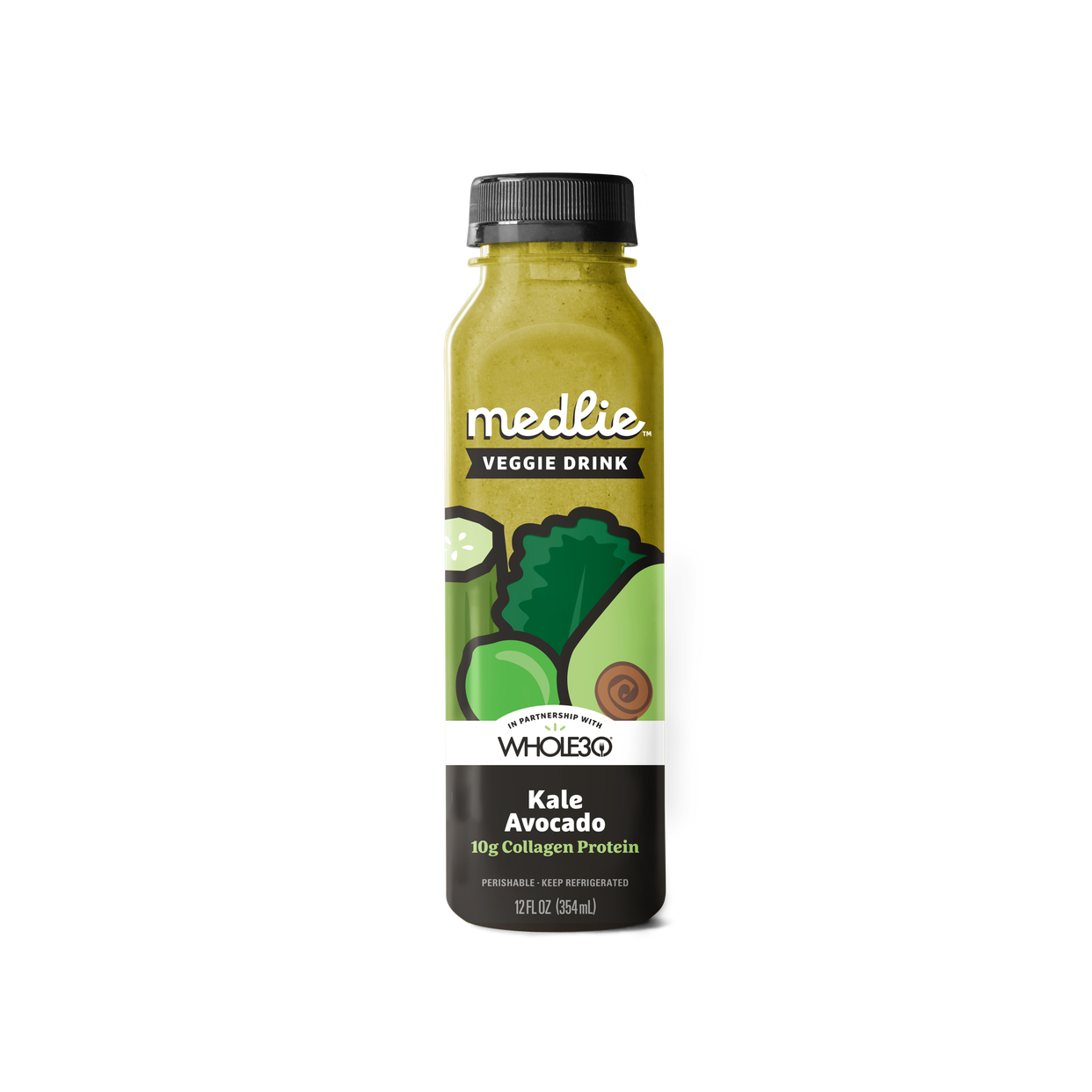 medlie veggie drink - kale avocado collagen