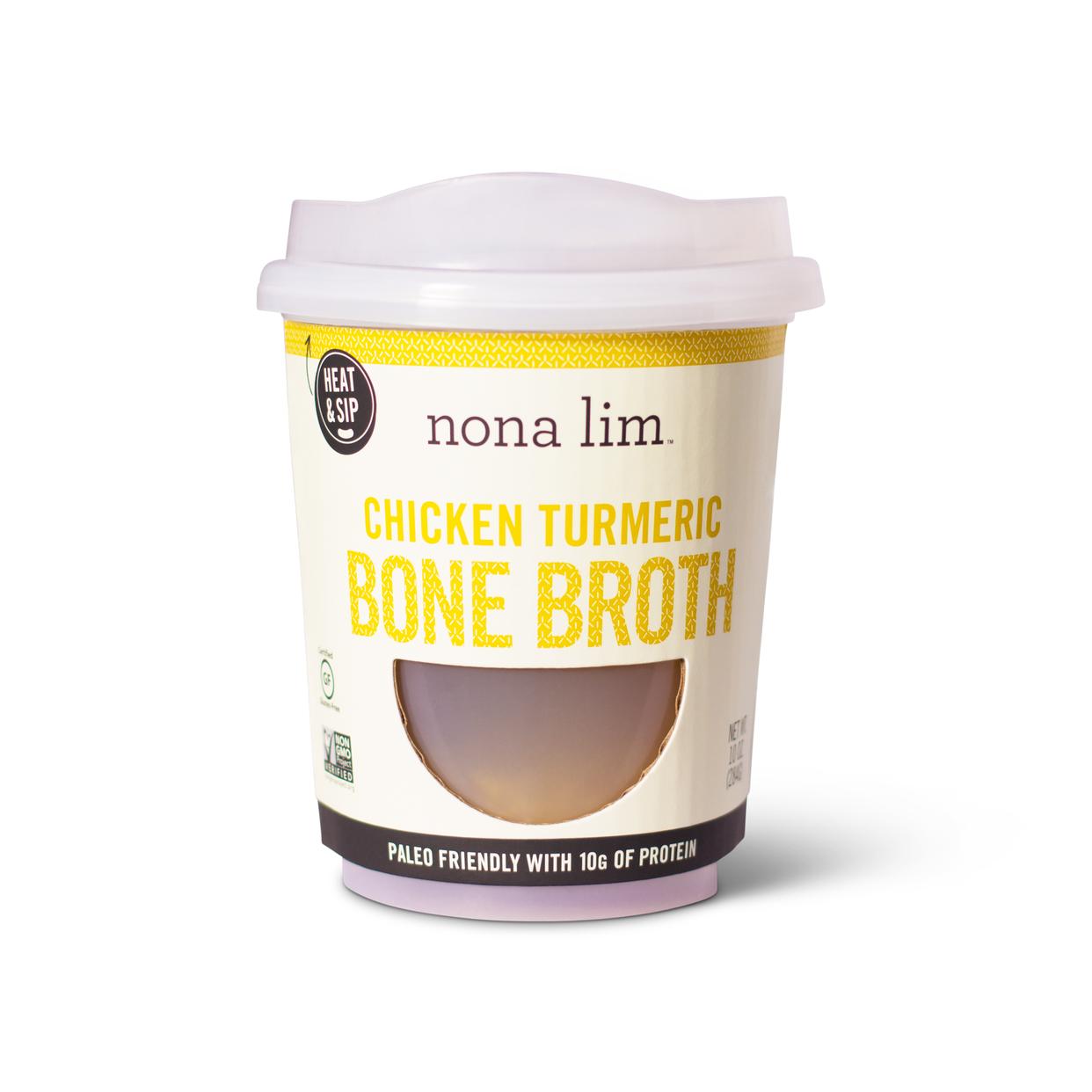 Nona Lim Chicken Turmeric Bone Broth - Snap Kitchen - Paleo, Milk ...