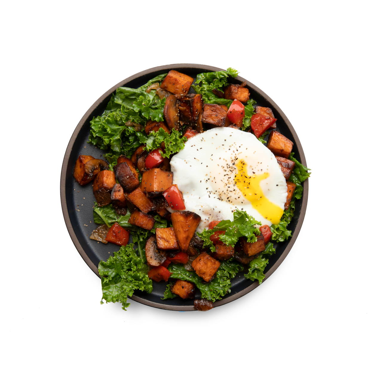 over easy sweet potato hash
