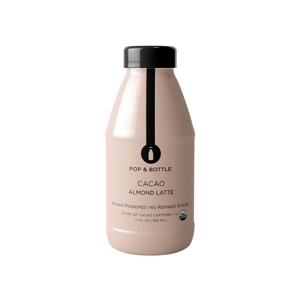 pop and bottle cacao almond milk