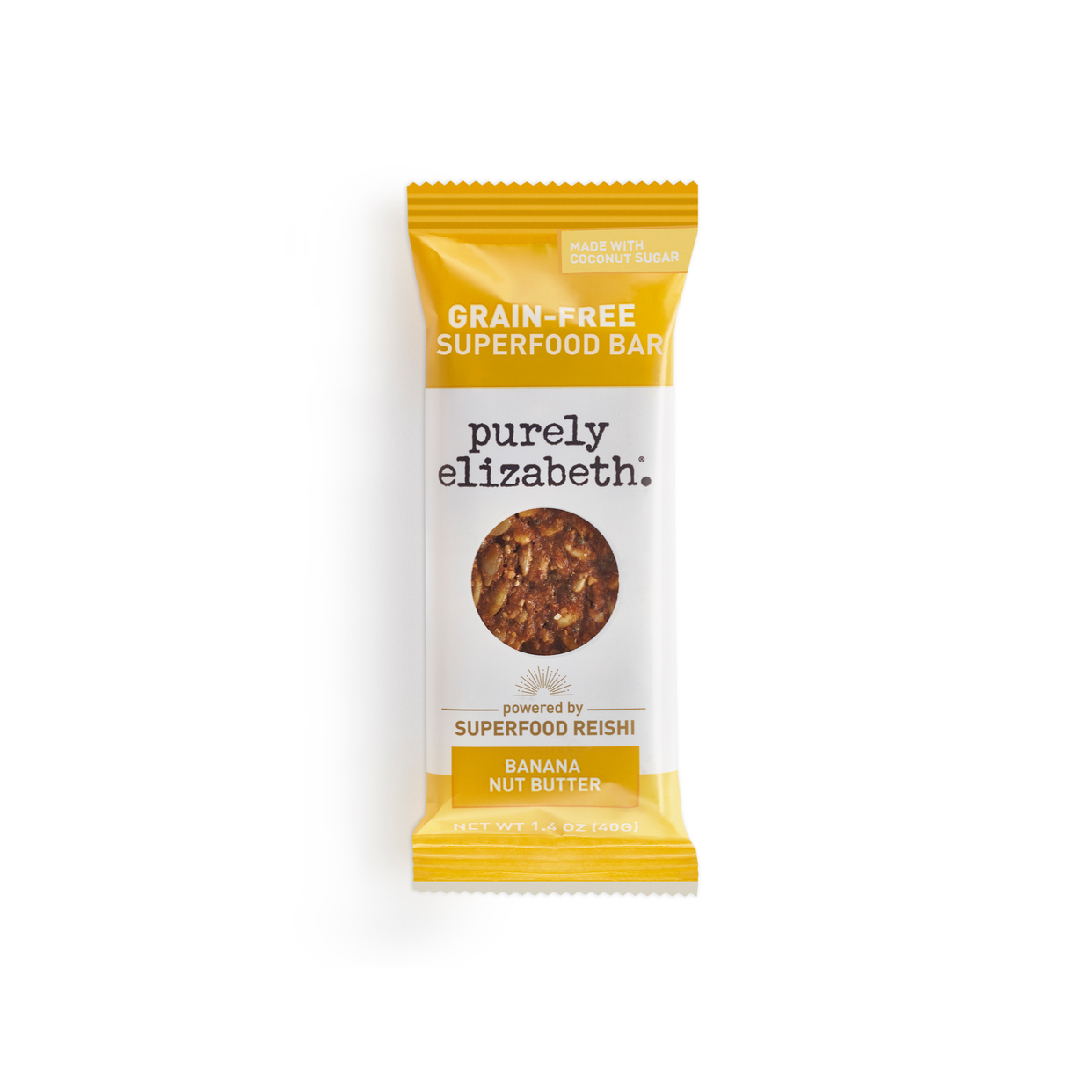 purely elizabeth grain-free granola bar - banana nut