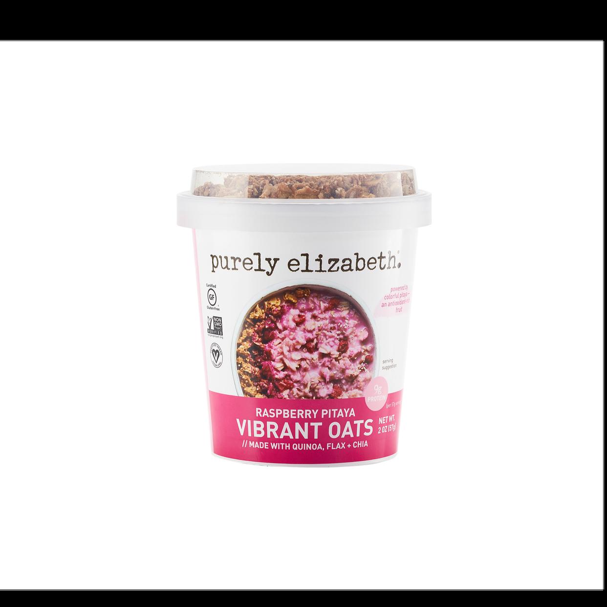 Purely Elizabeth Vibrant Oats Raspberry Pitaya - Snap Kitchen ...