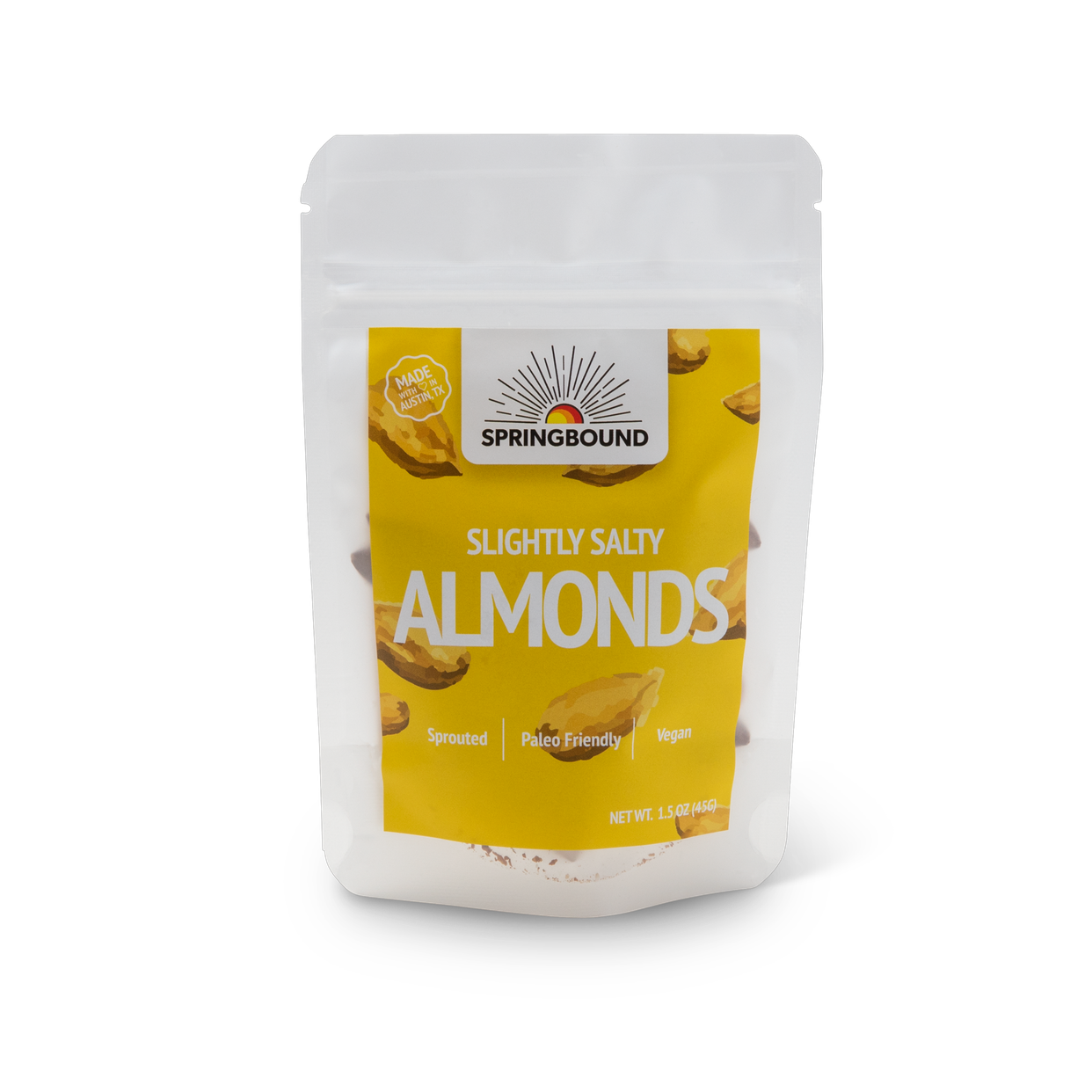 springbound nutz - slightly salty almonds