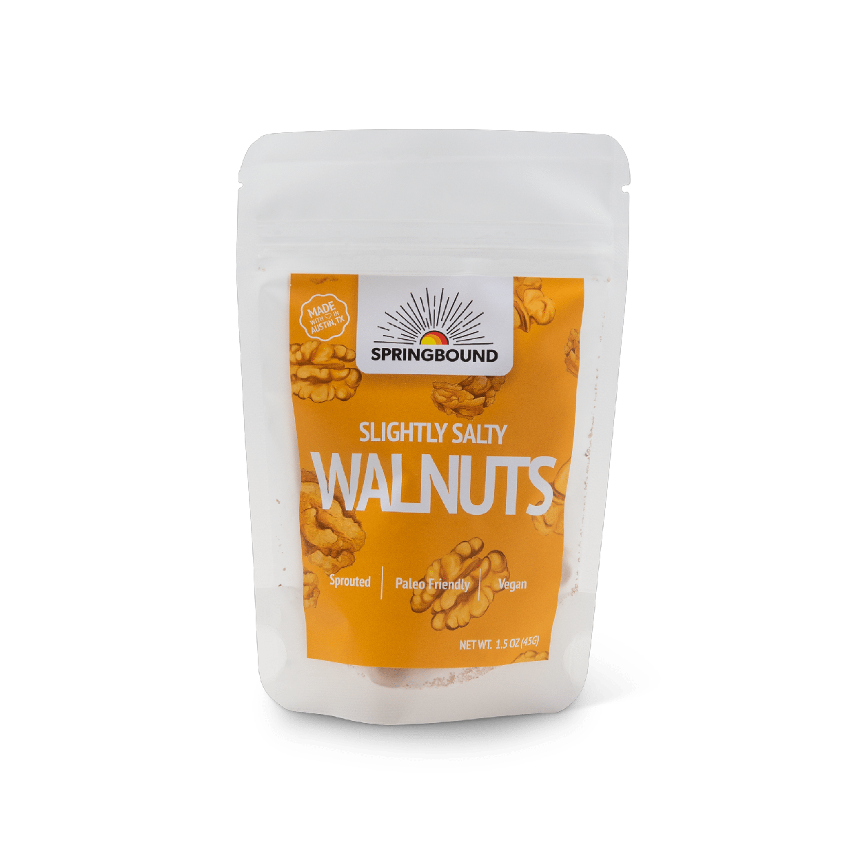 springbound nutz - slightly salty walnuts