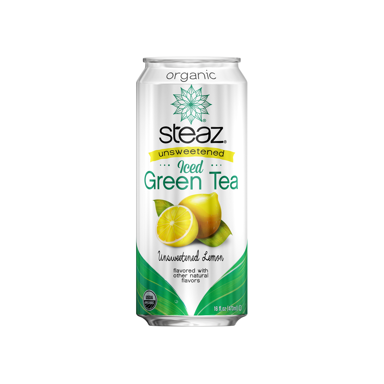 steaz unsweetened lemon green tea