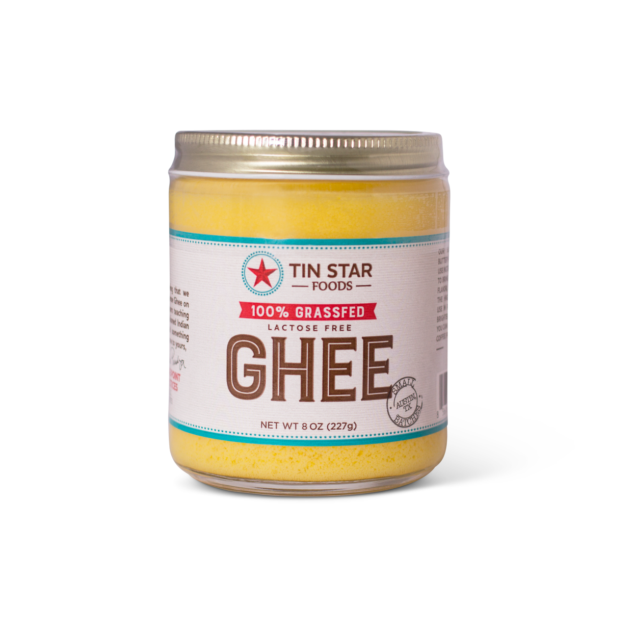 tin star - grass-fed ghee (jar)